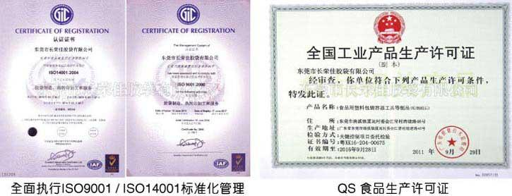 ISO9001、QS