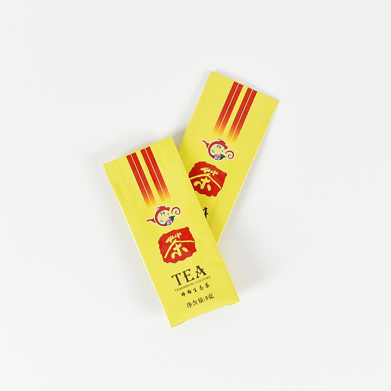 茶叶包装袋——黄色款侧风琴铝箔茶叶袋
